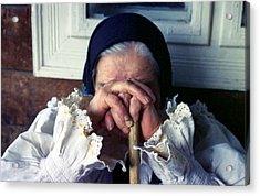 Woman From Maramures Romania Acrylic Print by Emanuel Tanjala