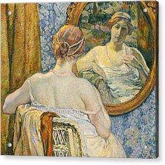 Woman In A Mirror Acrylic Print