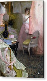 Woman In An Interior   Acrylic Print by Albert Breaute