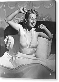 Woman In Bed Acrylic Print by George Marks
