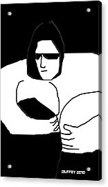 Woman In Black Sheets In Shades Acrylic Print