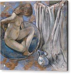Woman In The Tub Acrylic Print by Edgar Degas