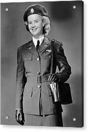 Woman In Uniform Acrylic Print by George Marks