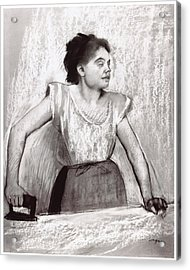Woman Ironing Acrylic Print by Edgar Degas
