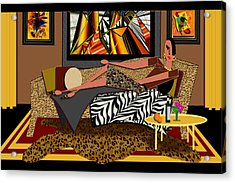 Woman On A Chaise Lounge Acrylic Print