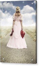 Woman On A Street Acrylic Print by Joana Kruse