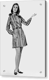 Woman Striking A Pose Acrylic Print by George Marks
