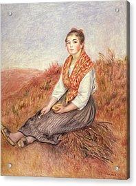 Woman With A Bundle Of Firewood Acrylic Print