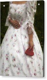 Woman With A Heart Acrylic Print by Joana Kruse