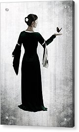 Woman With Butterfly Acrylic Print by Joana Kruse