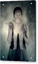 Woman With Doll Acrylic Print by Joana Kruse