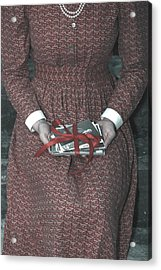 Woman With Old Photos Acrylic Print by Joana Kruse