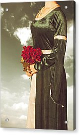 Woman With Roses Acrylic Print by Joana Kruse