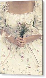 Woman With Wild Flowers Acrylic Print by Joana Kruse