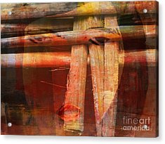 Woman Without Family - Femme Sans Famille Acrylic Print by Fania Simon