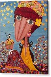 Woman#1 Acrylic Print by Suwannee Wannasopha