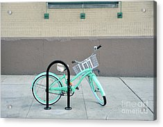 Woman's Bicycle  Acrylic Print by Ed Rooney