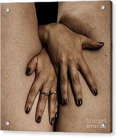 Woman's Hands Acrylic Print by Pierre-jean Grouille