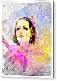 Woman's Soul Part 3 Acrylic Print by Mo T