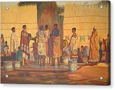 Women At Bolehole Acrylic Print by Nisty Wizy