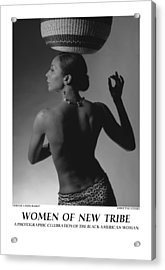 Women Of A New Tribe - Veronica With Basket Acrylic Print by Jerry Taliaferro