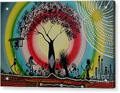 Women Under The Wisdom Tree Acrylic Print by David Dunn