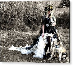 Women Who Run With Wolves Acrylic Print by Nyla Alisia