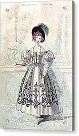 Womens Fashion, 1833 Acrylic Print by Granger