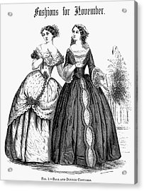 Womens Fashion, 1851 Acrylic Print by Granger