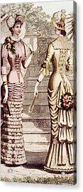 Womens Fashion, Circa 1880s Acrylic Print by Everett