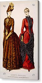 Womens Fashions From Godeys Ladys Book Acrylic Print