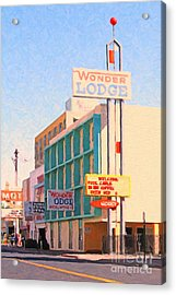 Wonder Lodge Acrylic Print by Wingsdomain Art and Photography
