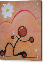 Woo - To Seek The Affection Of With Intent To Romance. Acrylic Print by Cory Green