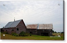 Acrylic Print featuring the photograph Wood And Log Sheds by Barbara McMahon