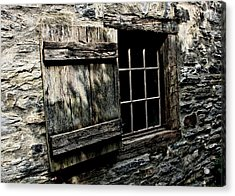 Wood And Stone Acrylic Print by Julie Williams