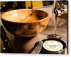Acrylic Print featuring the photograph Wood Bowl by Gary Rose