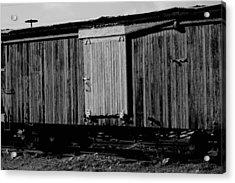 Wood Boxcar Acrylic Print by Elizabeth  Doran