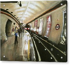 Wood Green Tube Station Acrylic Print by Paul Mitchell