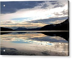 Wood Lake Mirror Image Acrylic Print by Will Borden