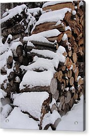 Acrylic Print featuring the photograph Wood Pile by Tiffany Erdman