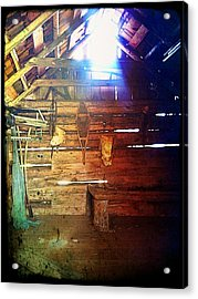 Wood Shed Acrylic Print by Jeff Ford