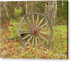 Acrylic Print featuring the photograph Wood Spoked Wheel by Sherman Perry
