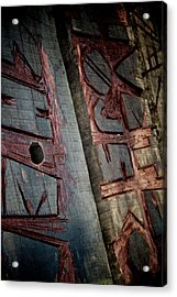 Wood Tattoo Acrylic Print by Odd Jeppesen