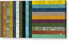 Wooden Abstract Vl  Acrylic Print by Michelle Calkins