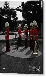 Acrylic Print featuring the photograph Wooden Bandsmen by Blair Stuart