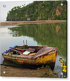 Acrylic Print featuring the photograph Wooden Boat- St Lucia by Chester Williams