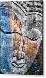 Wooden Buddha Acrylic Print by Carol Leigh
