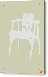 Wooden Chair Acrylic Print by Naxart Studio