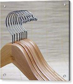 Wooden Clothes Hangers Acrylic Print by Skip Nall