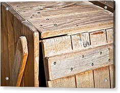 Wooden Crate Acrylic Print by Tom Gowanlock